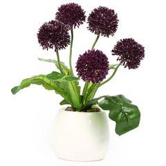 گلدان به همراه گل مصنوعی هومز کد 50108