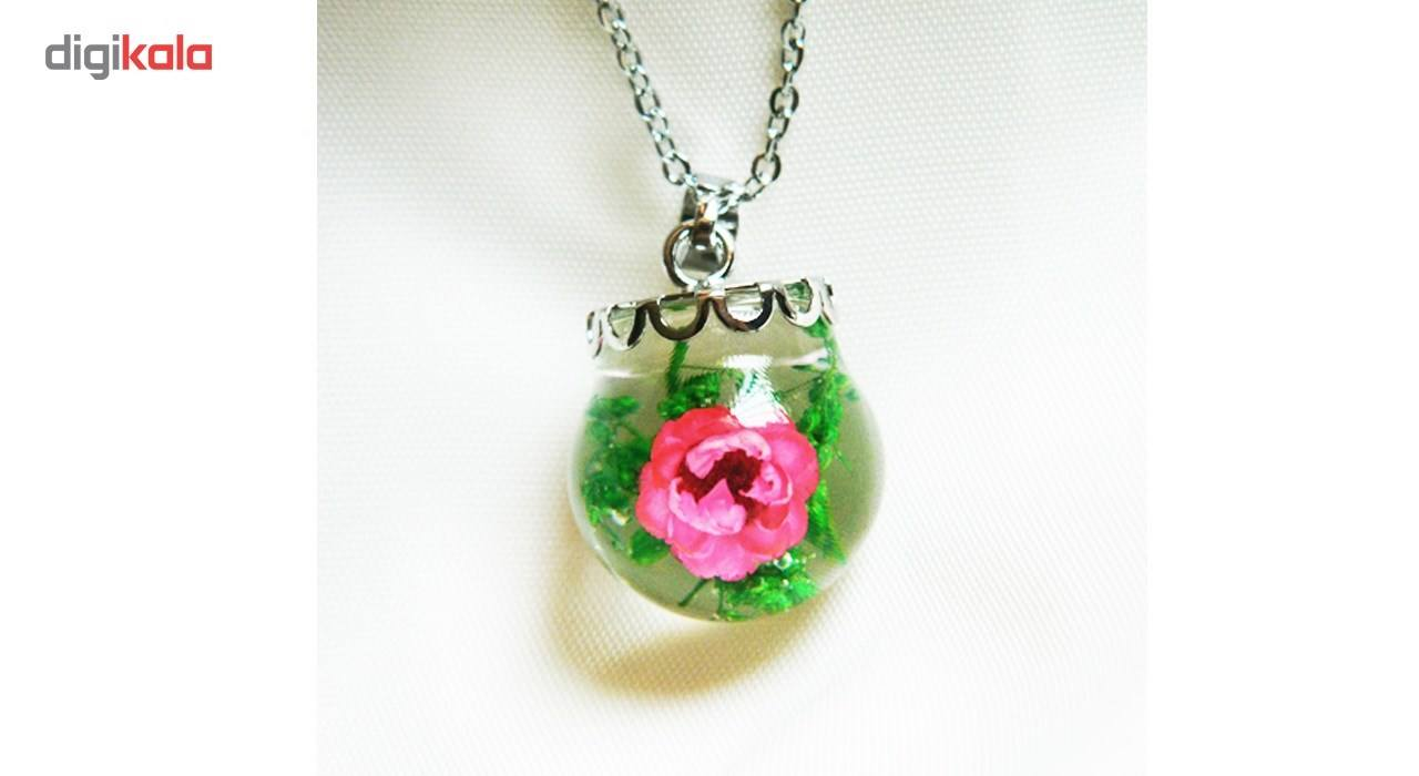 گردنبند گل طبیعی گالری شمرون کد 5396