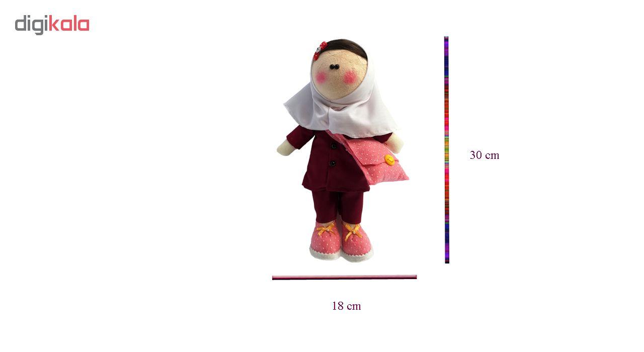 عروسک روسی طرح دختر محصل کد MRK17 ارتفاع 30 سانتی متر