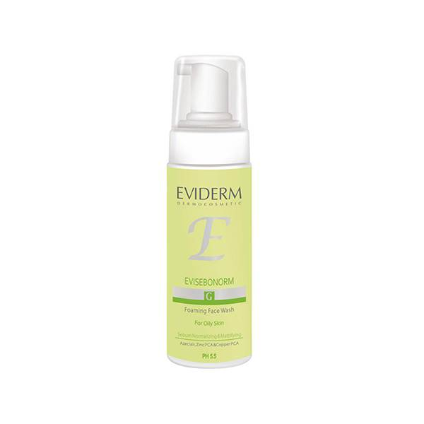 قیمت فوم پاک کننده آرایش صورت اویدرم سری Foaming Wash مدل Evisebonorm حجم ۱۵۰ میلی لیتر