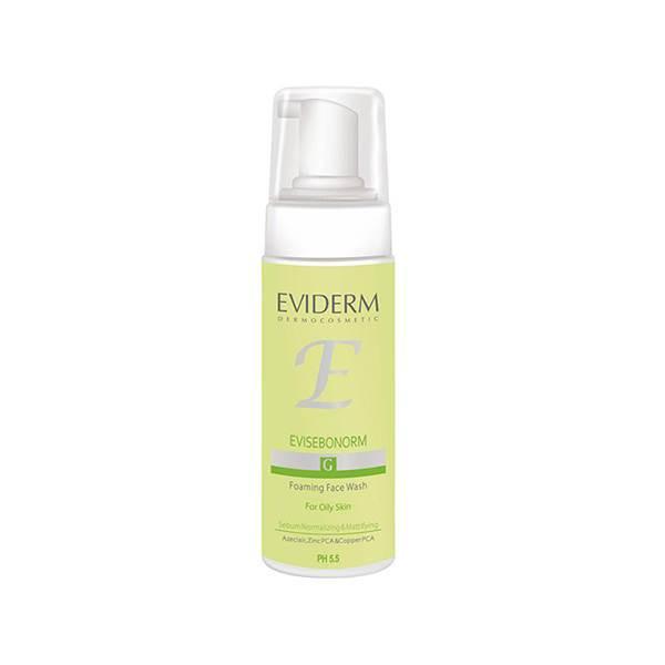 فوم پاک کننده آرایش صورت اویدرم سری Foaming Wash مدل Evisebonorm حجم ۱۵۰ میلی لیتر