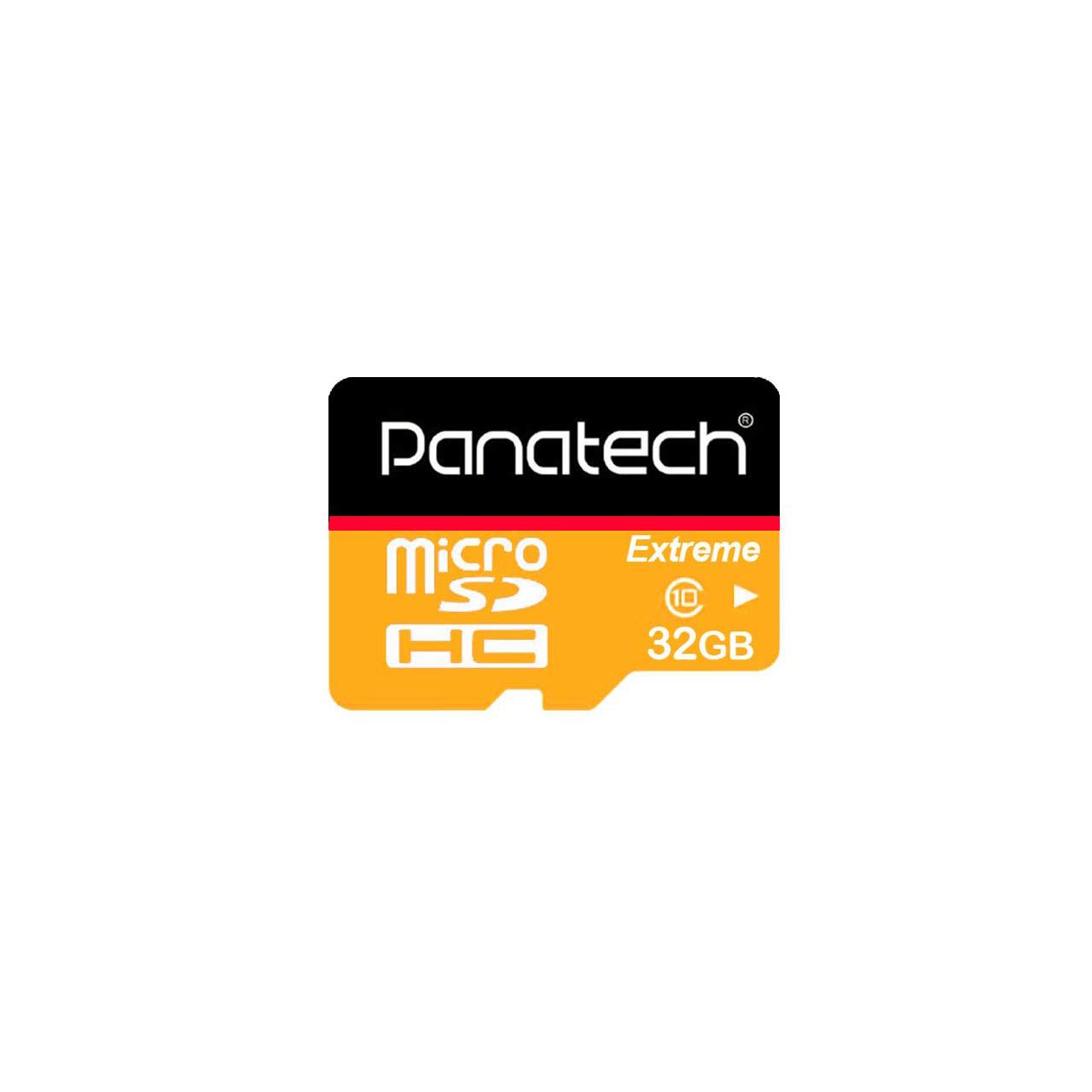 کارت حافظه microSDXC پاناتک مدل Extreme کلاس 10 استاندارد UHS-I U1 سرعت 30MBps ظرفیت 32 گیگابایت