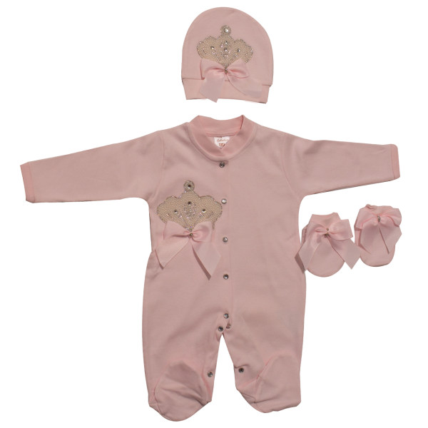 ست 3 تکه نوزادی دخترانه ادابیبی مدل 1196PP