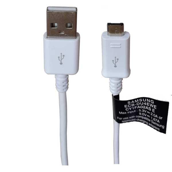 کابل تبدیل USB به microUSB مدل ECB-DU68BE  طول ۱.۴ متر فست شارژ با برچسب اطمینان سامتل                     غیر اصل