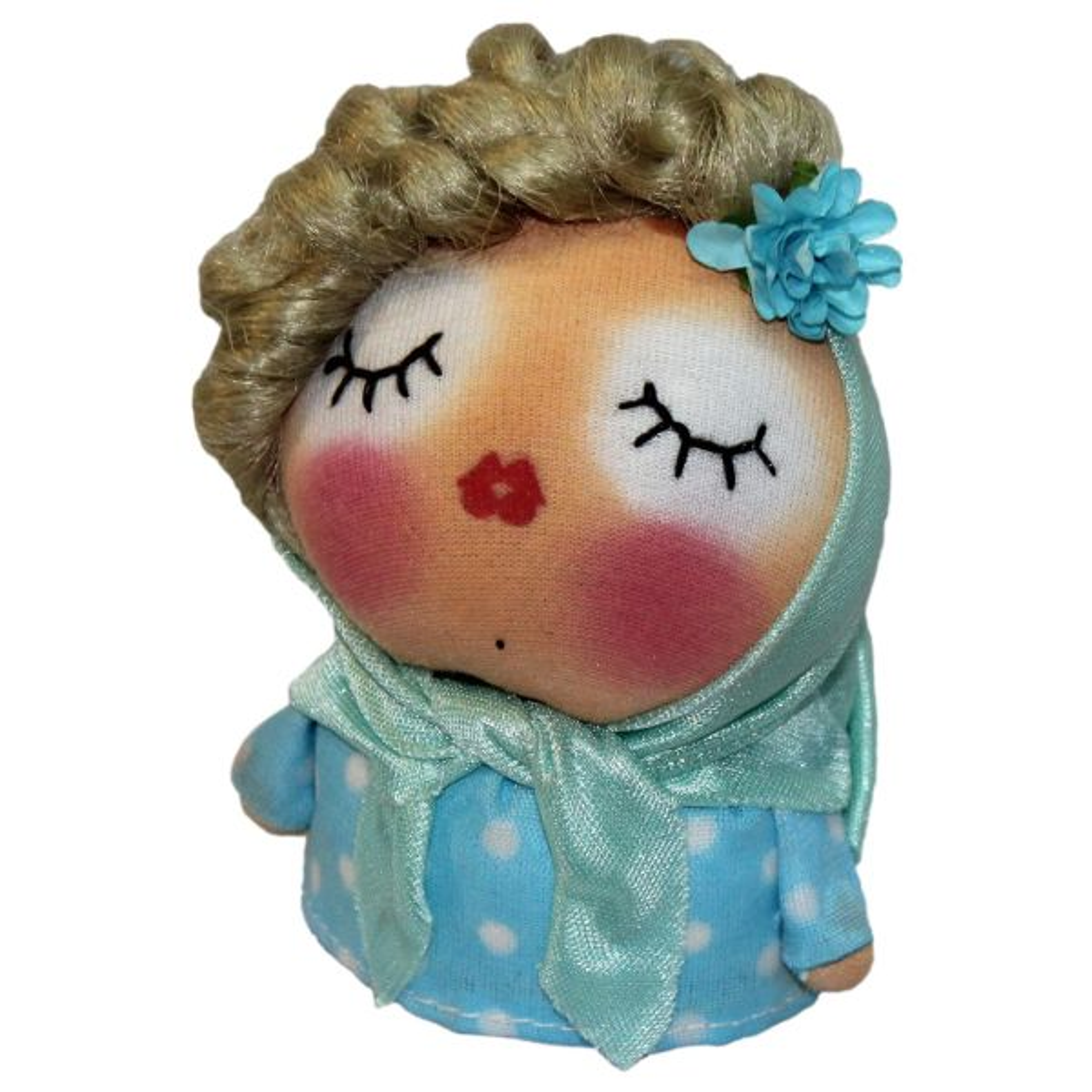 عروسک دست دوز گالری روهام مدل دختر خانم کد 601