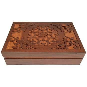 جعبه رومیزی تی بگ و تنقلات و زیر لیوانی مدل Mate Gol کد KU19