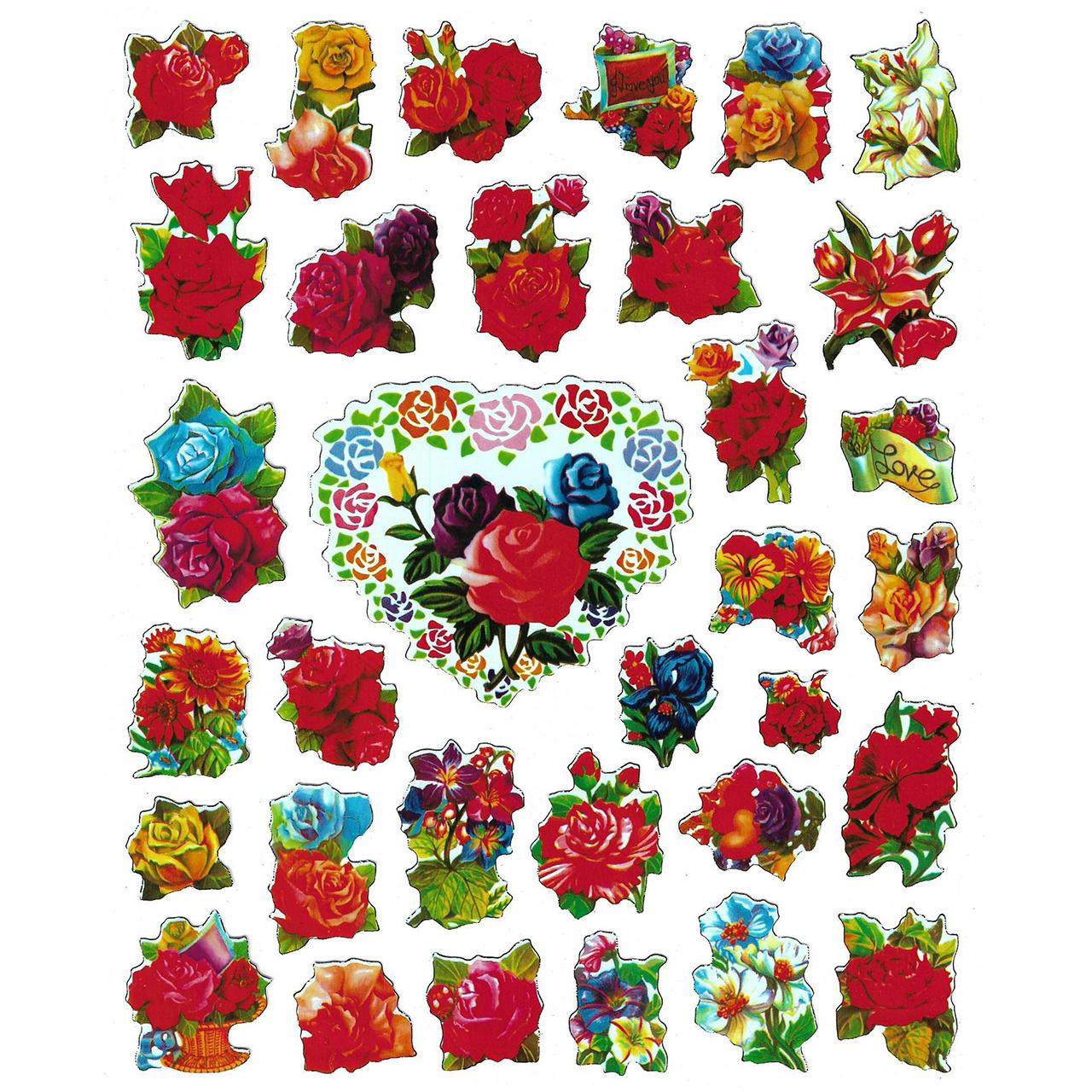 استیکر کودک طرح گل مدل flower-b 001