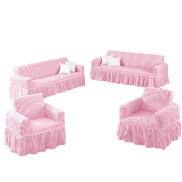 کاور مبل 7 نفره کتان استرچ کالای خواب شمیم مدل Pembe