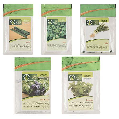 بذر سبزیجات پاکان بذر مدل SP5-4 مجموعه 5 عددی