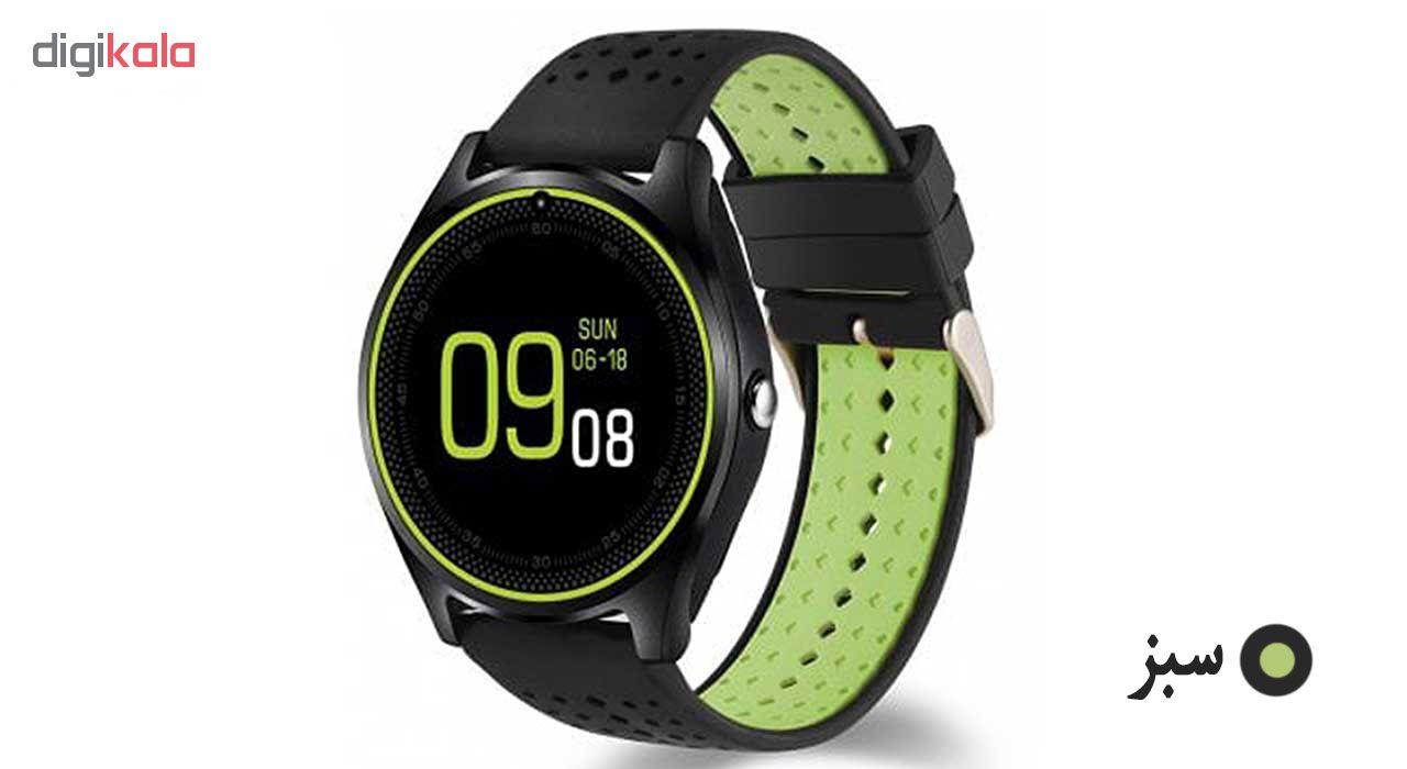 خرید ساعت مچی هوشمند مدل V9 همراه محافظ صفحه نمایش شیدتگ