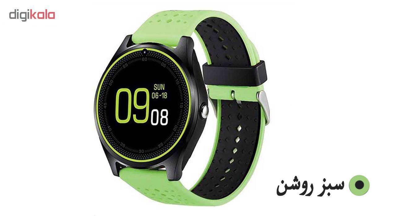 ساعت مچی هوشمند مدل V9 همراه محافظ صفحه نمایش شیدتگ main 1 2
