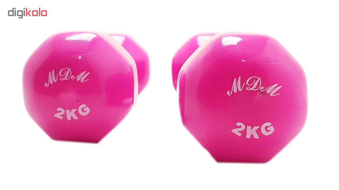 دمبل ایروبیک روکش دار 2 کیلوگرمی مدل 02 بسته دو عددی main 1 1