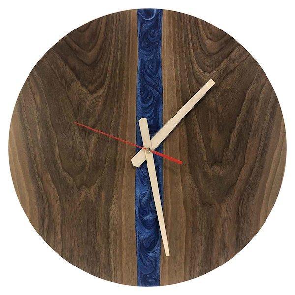 ساعت دیواری چوبی کد Vcblue 109R