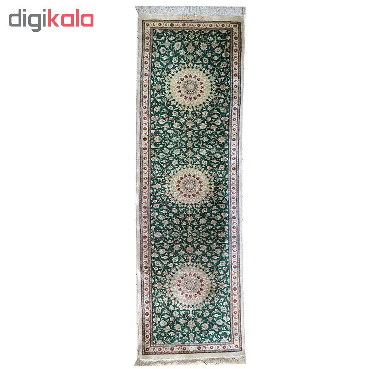 فرش دستبافت کناره یک متری انارکیان طرح لچک ترنجی کد YM.100