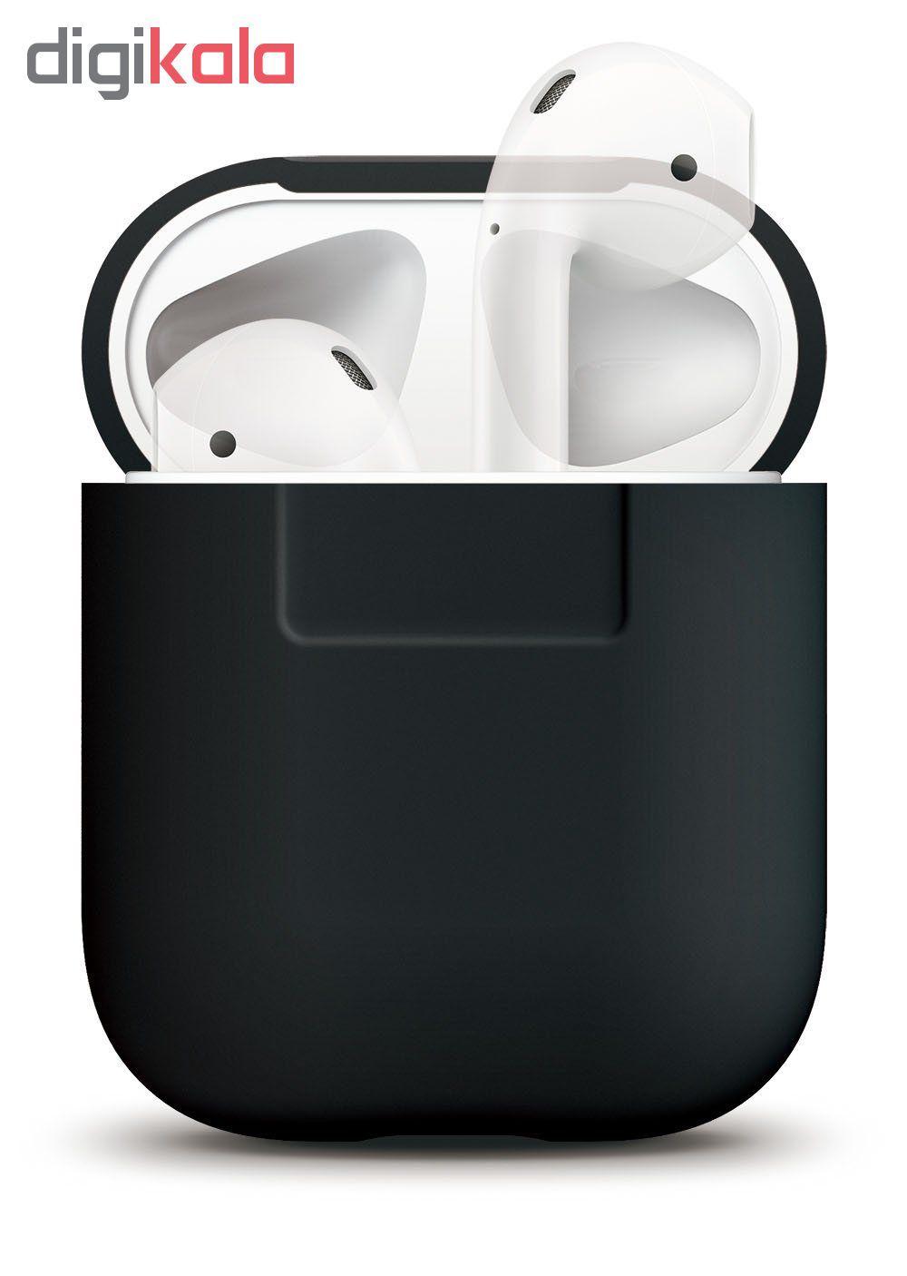 کاور محافظ سیلیکونی الاگو مناسب برای کیس هدفون اپل AirPods main 1 8