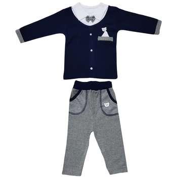 ست 2 تکه لباس نوزادی پسرانه بارلی مدل کارن کد 001 |
