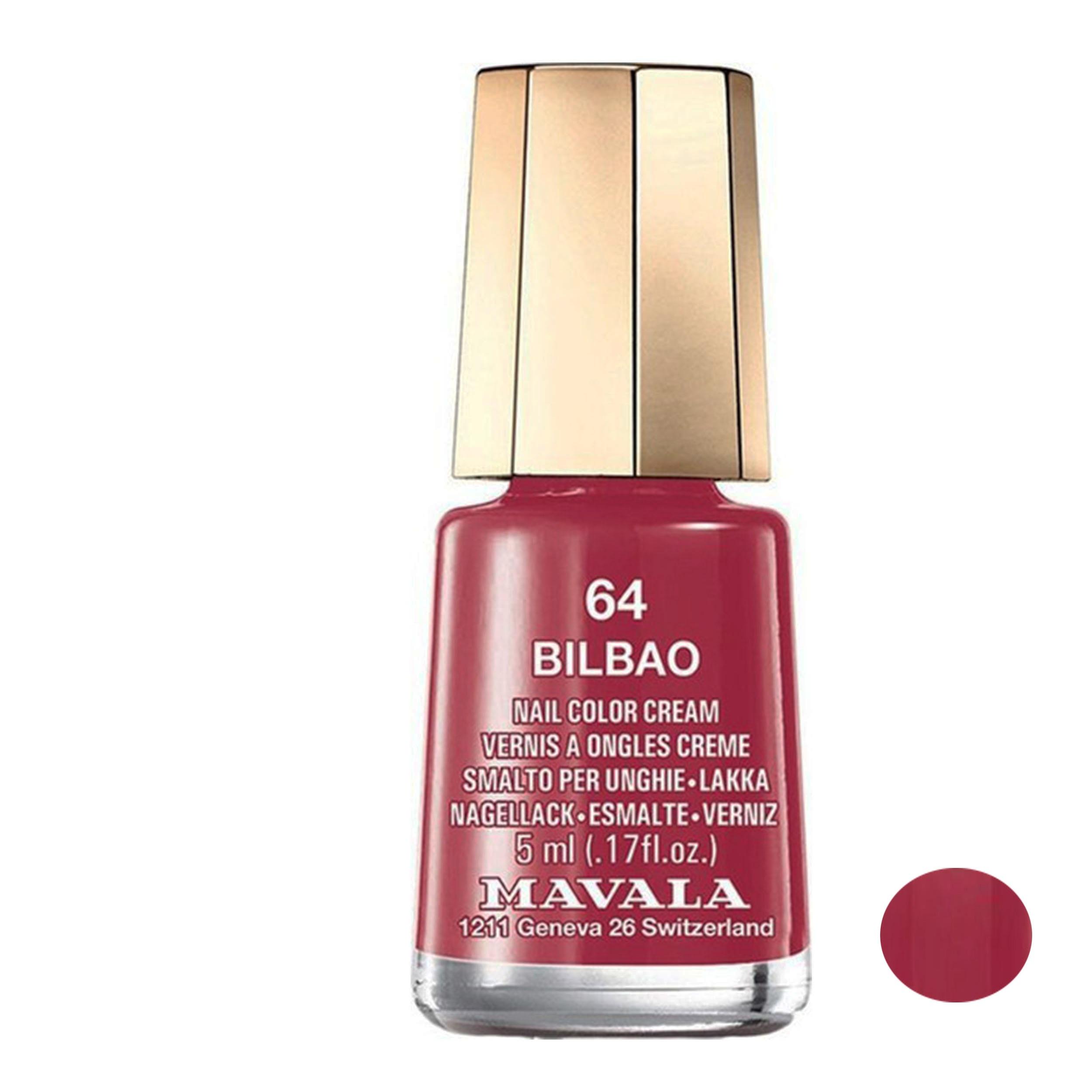 لاک ناخن ماوالا مدل Bilbao  شماره 64