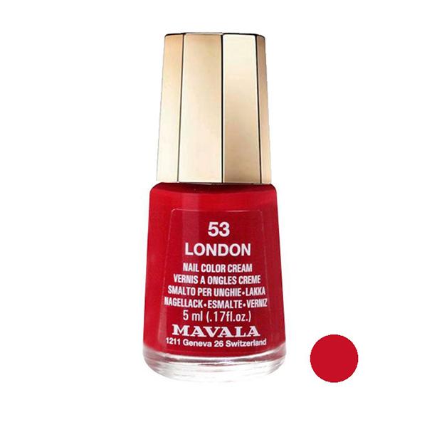 لاک ناخن ماوالا مدل LONDON شماره 53