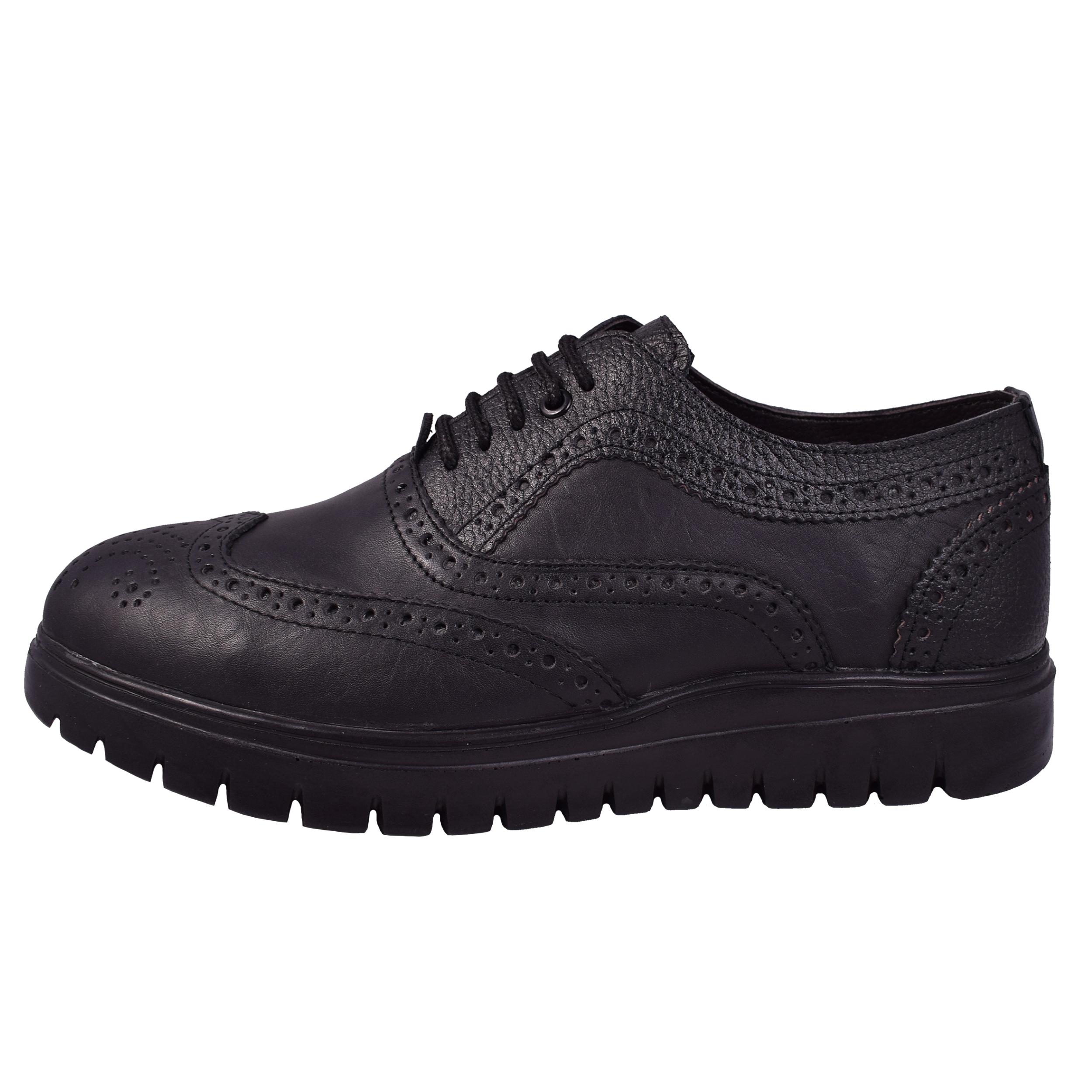 کفش مردانه مدل آکسفورد کد 9082-SS رنگ مشکی
