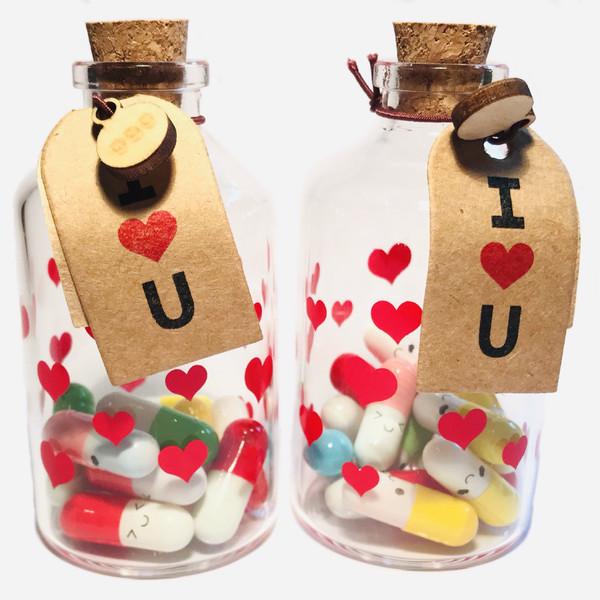 بطری دکوری ایران کرک طرح کپسول عشق کد 50 بسته 2 عددی