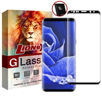 محافظ صفحه نمایش 6D Dual لایونکس مدل USS مناسب برای گوشی موبایل سامسونگ Galaxy S9 Plus به همراه محافظ لنز دوربین
