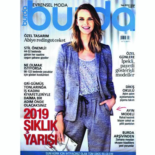 5b7d83017 مجله مد لباس بوردا شماره 1 سال2019 به همراه ۲۴ صفحه الگو