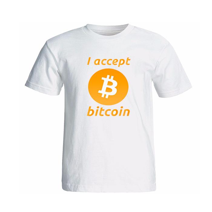 تی شرت آستین کوتاه طرح بیت کوین کد 13414