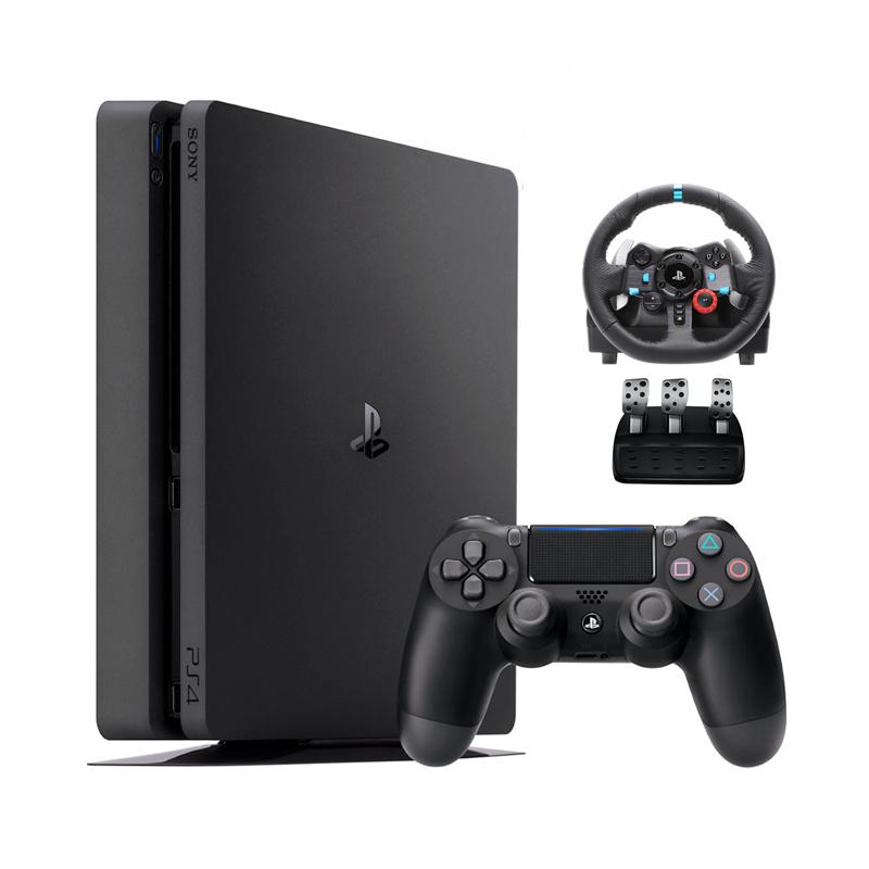 خرید                     مجموعه کنسول بازی سونی مدل Playstation 4 Slim کد CUH-2216B Region 2 - ظرفیت 1 ترابایت