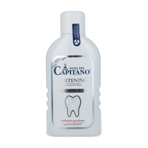 دهانشویه دندانهای حساس حاوی سفید کننده پاستا دل کاپیتانو مدل Sensitive+Whitening Mouthwash حجم 400 میلی لیتر