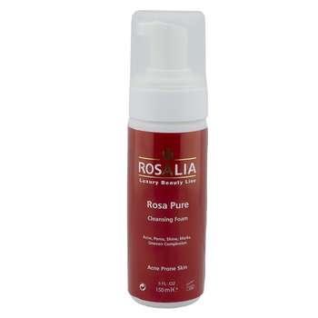 فوم پاک کننده صورت رزالیا مدل Rosa Pure حجم 150 میلی لیتر