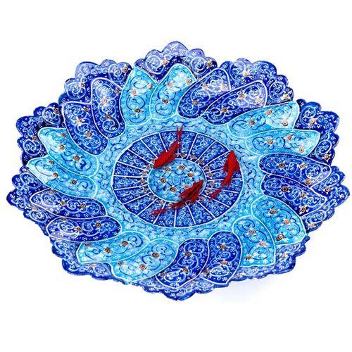 بشقاب میناکاری طرح ماهی سه بعدی کد 208