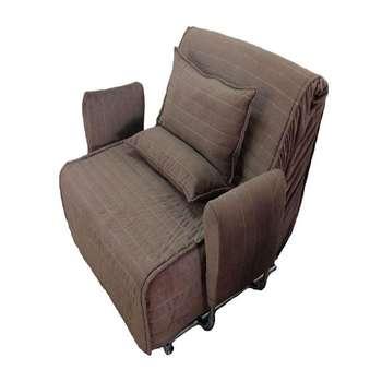 تصویر کاناپه مبل تختخواب شو ( تخت خواب شو , تختخوابشو ) یک نفره دسته متکایی