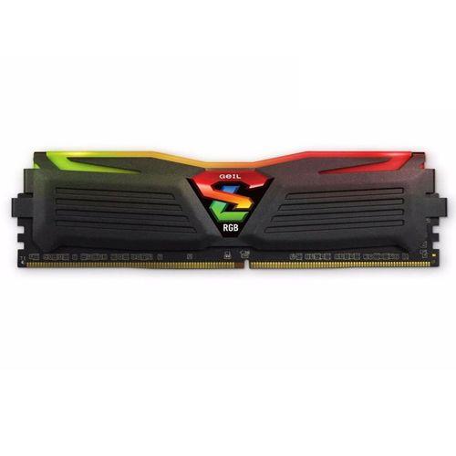رم دسکتاپ DDR4 دو کاناله 2400 مگاهرتز CL17 گیل مدل Super Luce RGB  ظرفیت 16 گیگابایت