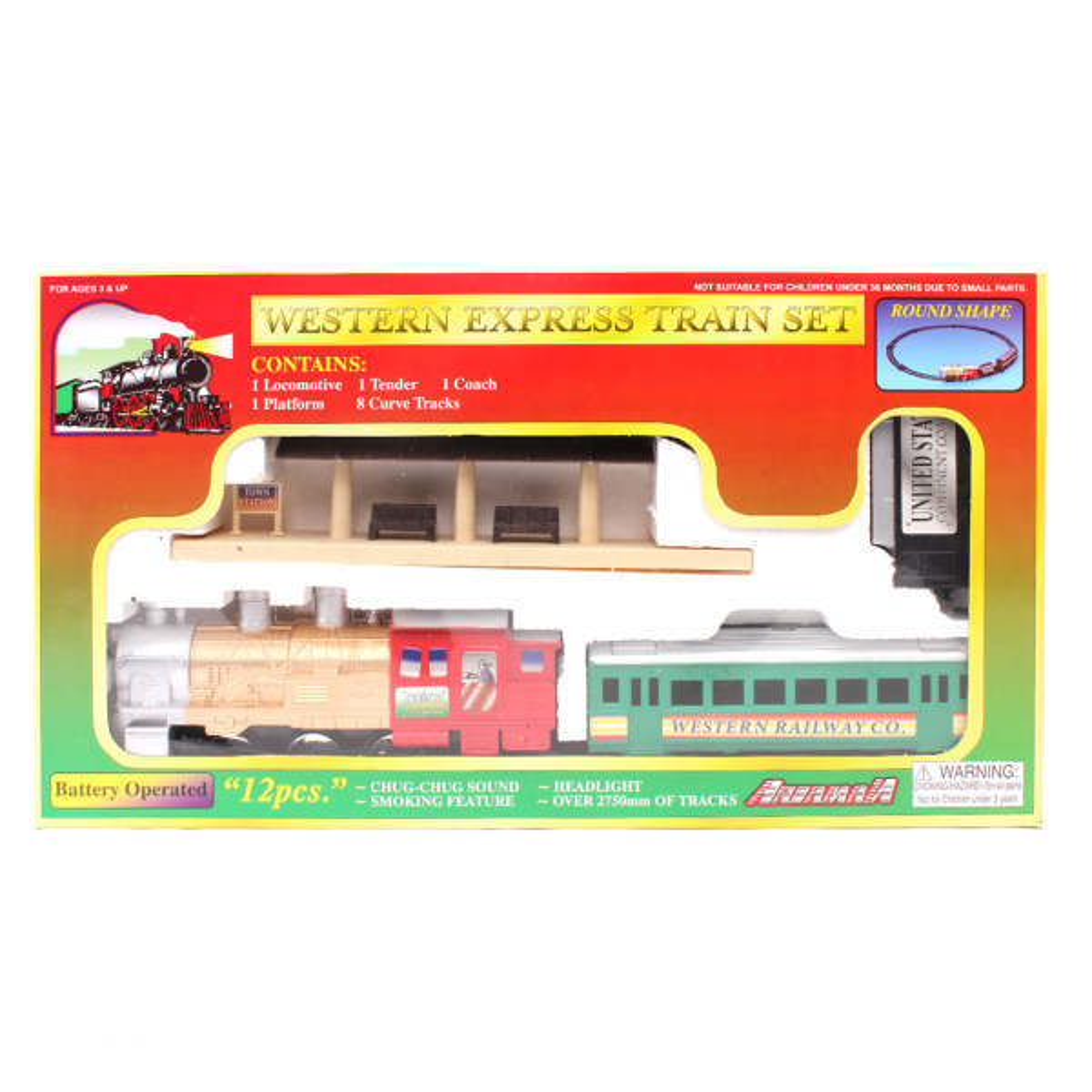 قطار اسباب بازی مدل Western 7072