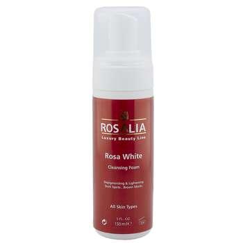فوم پاک کننده و روشن کننده پوست رزالیا مدل Rosa White حجم 150 میلی لیتر