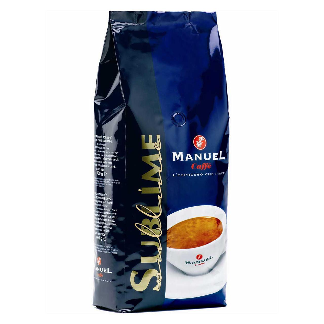 دانه قهوه مانوئل کافه مدل  sublime  مقدار  1000 گرم