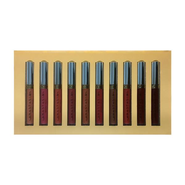 رژ لب مایع آناستازیا مدل Attractive Lip M01 مجموعه 10 عددی
