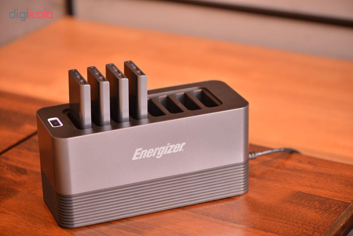 شارژر همراه انرجایزر مدل PS80000 ظرفیت 80000 میلی آمپر مجموعه 8 عددی به همراه پایه شارژ
