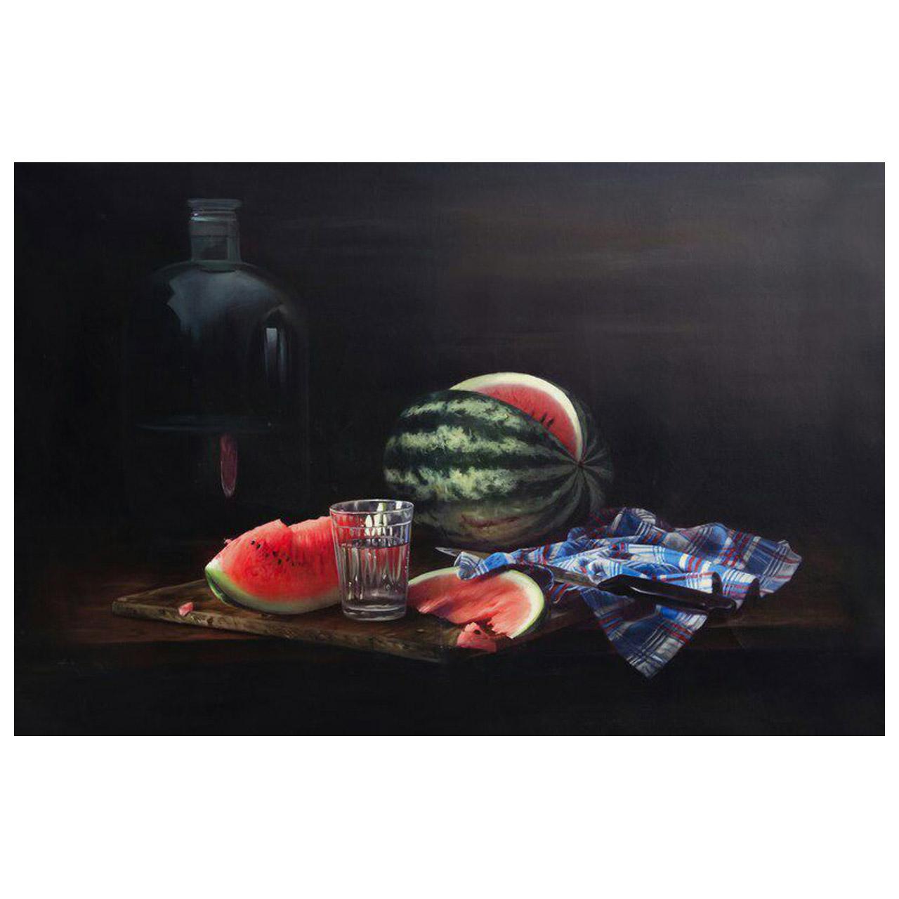 تابلو نقاشی رنگ روغن طرح هندوانه