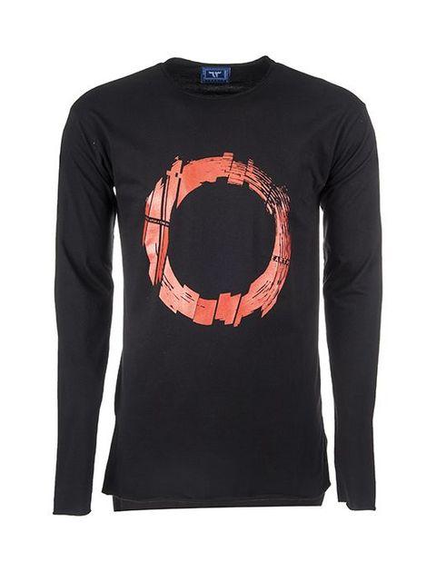 تی شرت نخی یقه گرد مردانه -  - 1