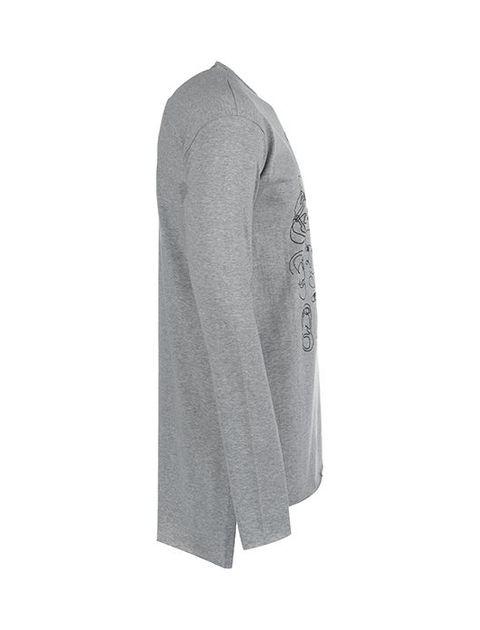 تی شرت نخی یقه گرد مردانه -  - 2