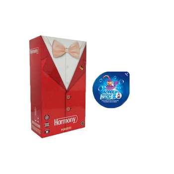 کاندوم ناچ کدکس مدل بلیسر به همراه کاندوم هارمونی مدل PARADISE بسته 12 عددی