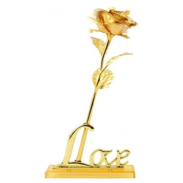 گل مصنوعی گلدن رز مدل 24K