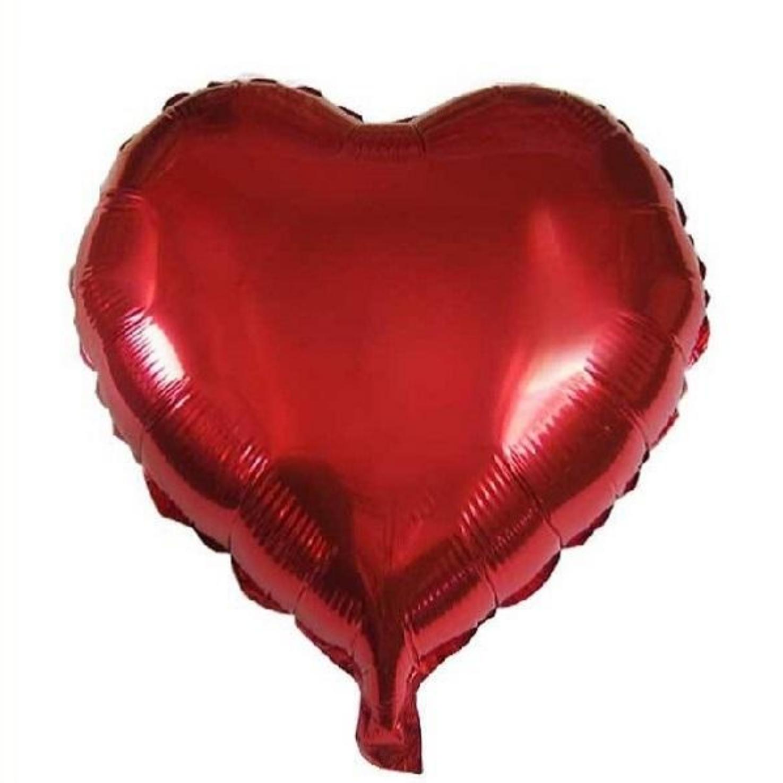 عکس بادکنک فویلی طرح قلب مدل 044
