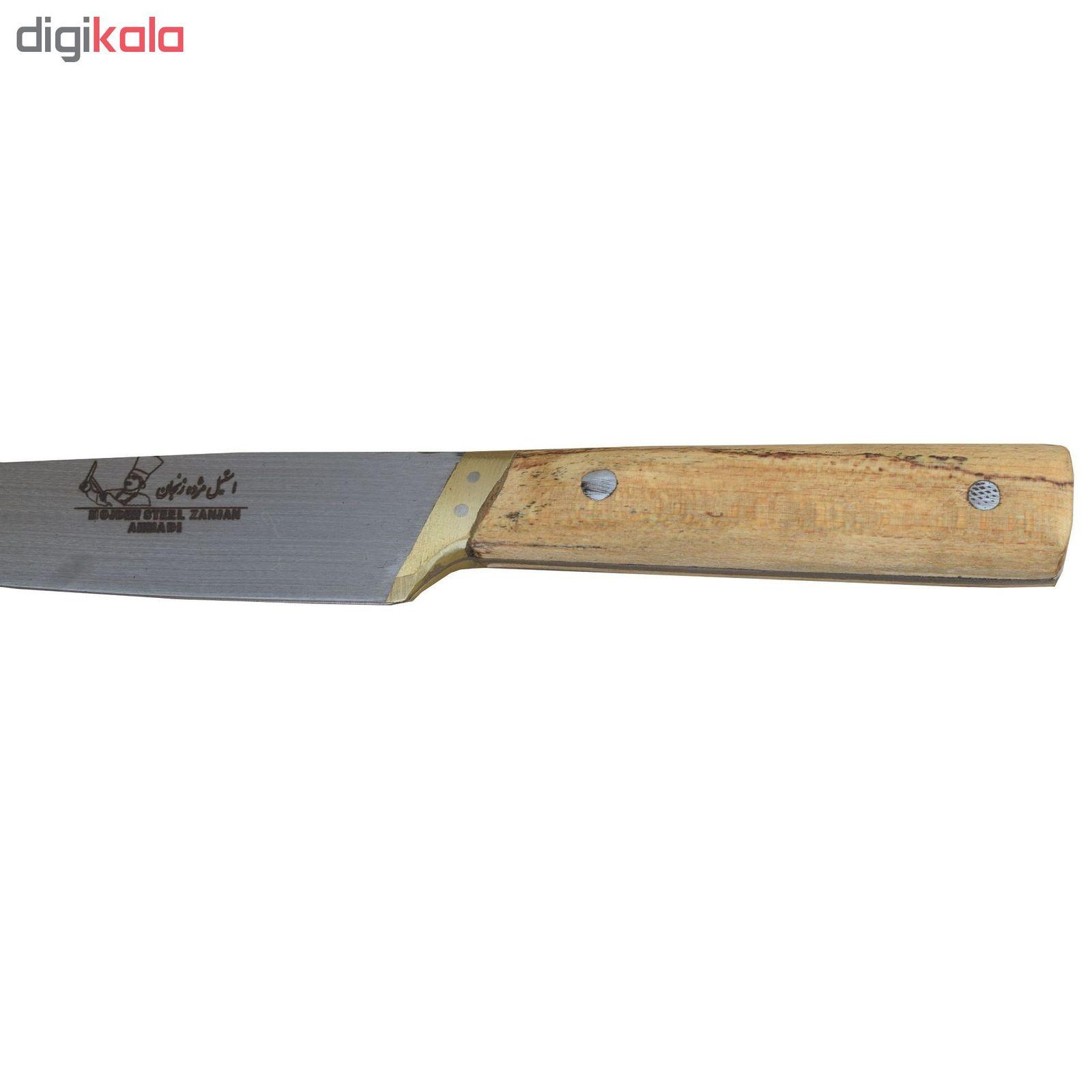 چاقو آشپزخانه استیل مژده زنجان مدل AK31 main 1 2