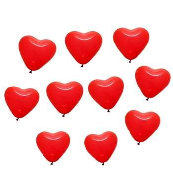 بادکنک لاتکس طرح قلب مجموعه 10 عددی