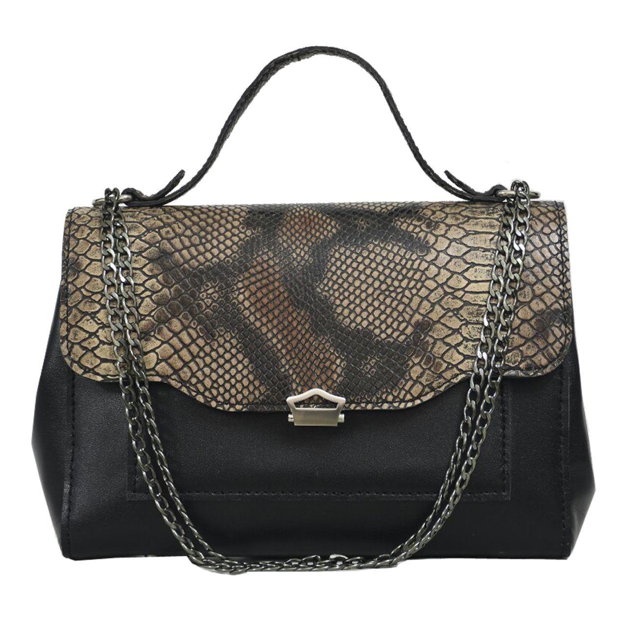 کیف دستی زنانه  چرم دستدوز مژی مدل M65-1 سایز L