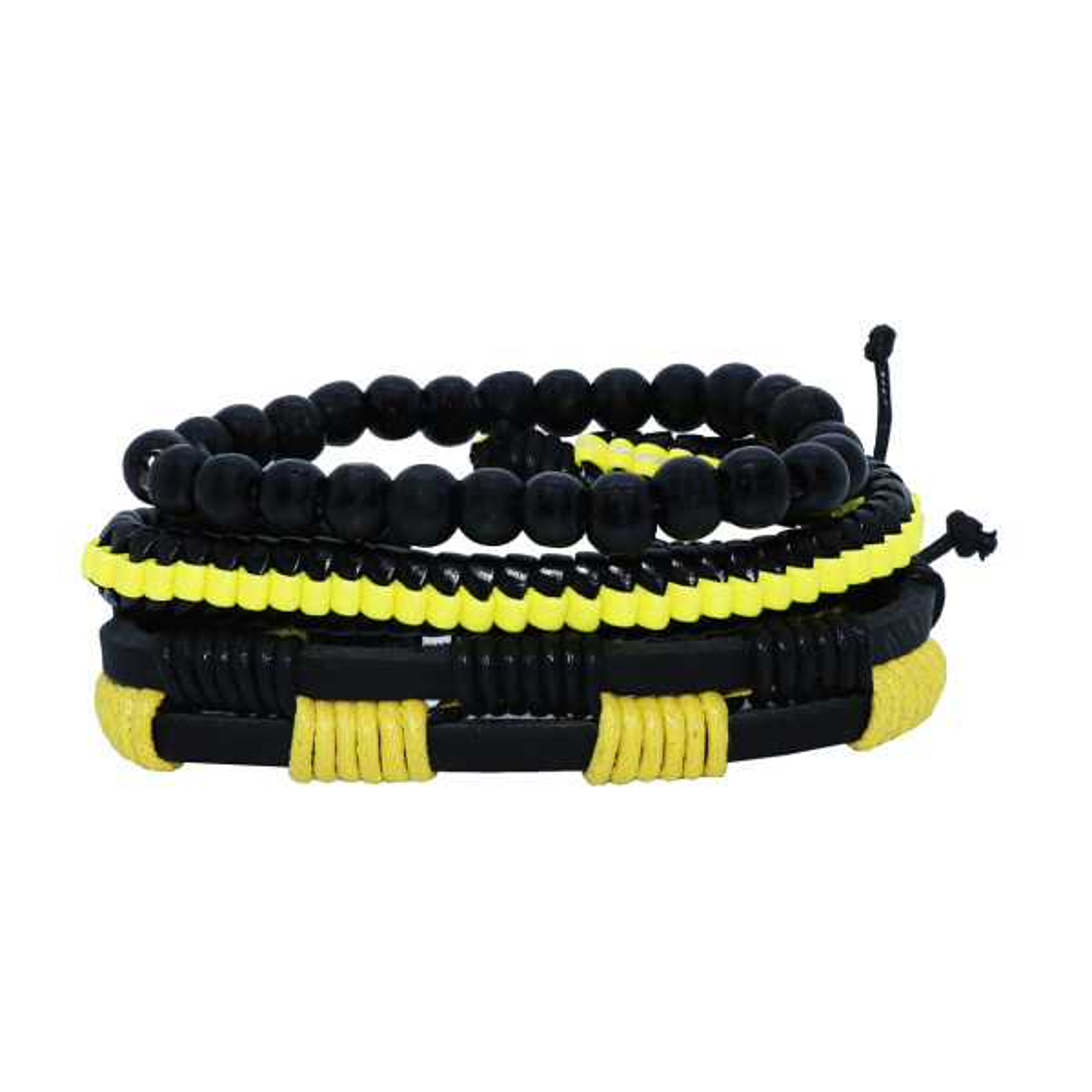 دستبند مردانه کد 063 مجموعه سه عددی سایز M