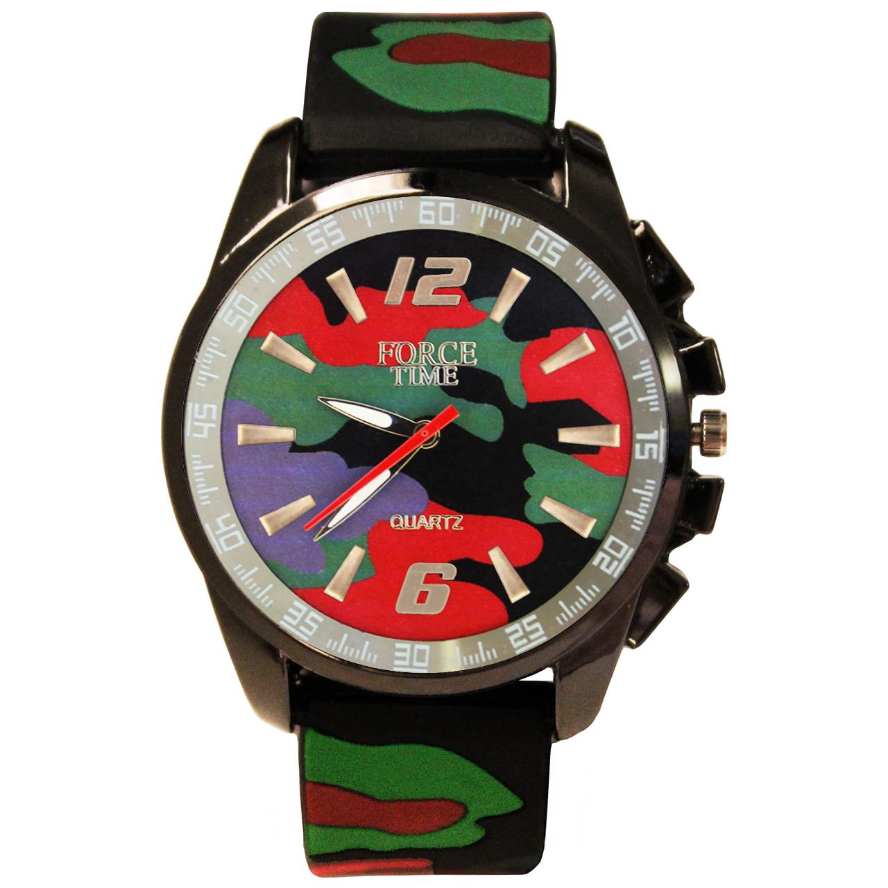 خرید ساعت مچی عقربه ای و زنانه مردانه فورس تایم مدل P4-71