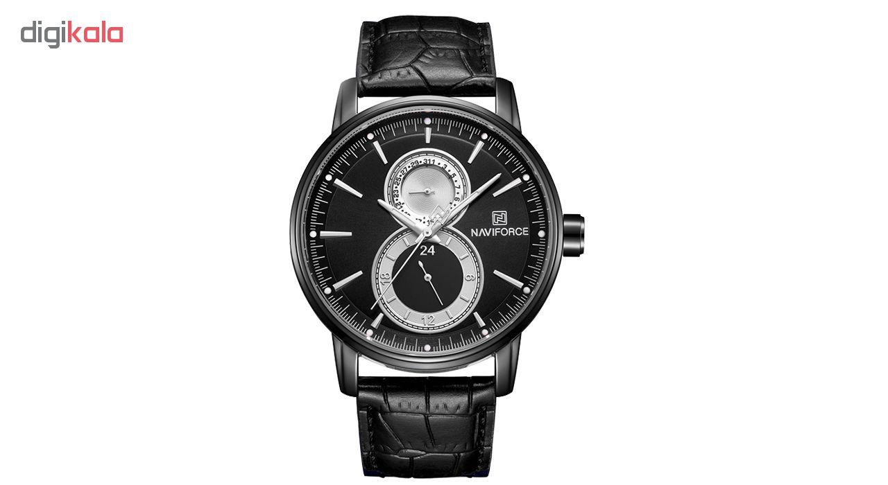 خرید ساعت مچی عقربه ای مردانه نیوی فورس مدل NF3005MBB